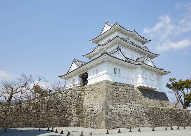明治時代に取り壊された小田原城を1960年に復興した小田原のシンボル「小田原城」