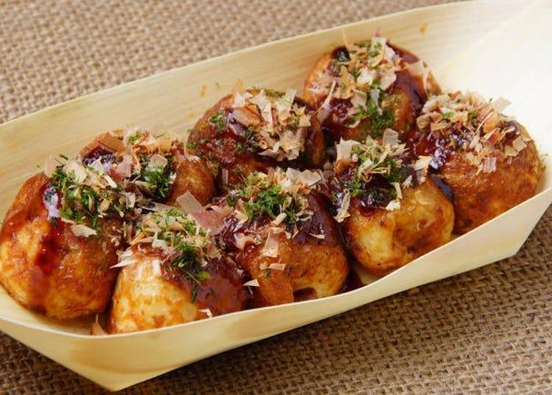 Takoyaki (Octopus Dumpling): It's so popular but I just can't handle it