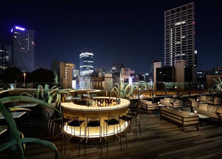 6.東京の夜景を一望できるラグジュアリーなビアガーデン【NoMad Grill Lounge/恵比寿】