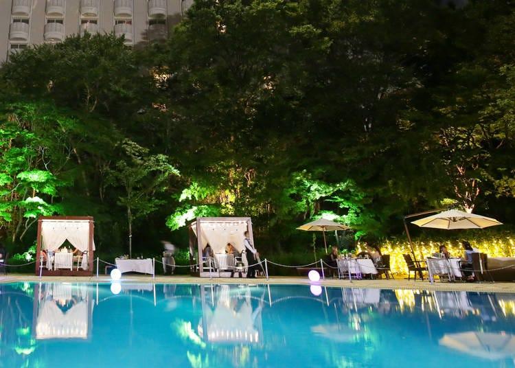 10.緑に囲まれたプールサイドでおしゃれBBQを楽しむ「高輪フォレストガーデン」【グランドプリンスホテル新高輪/高輪】