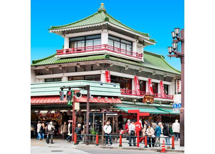 가미나리몬 바로 옆! 아침 9시에 오픈하는 '도키와도 가미나리오코시 혼포'