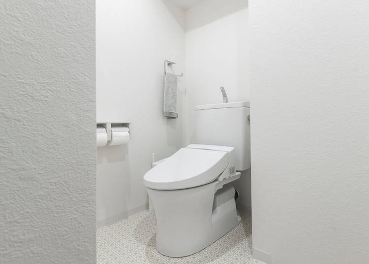 5. The toilet and bathroom are separated!