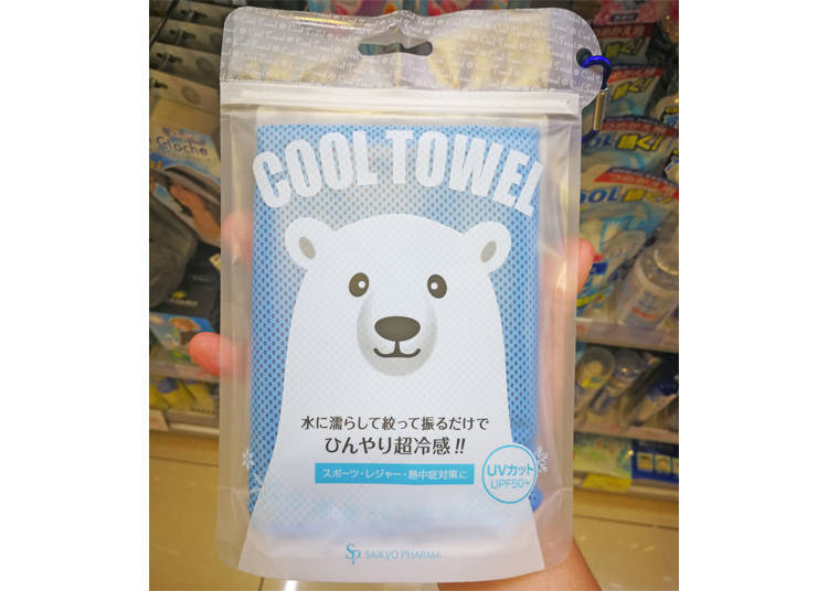 ●沾水甩一甩就超冰涼!令人驚嘆的毛巾
