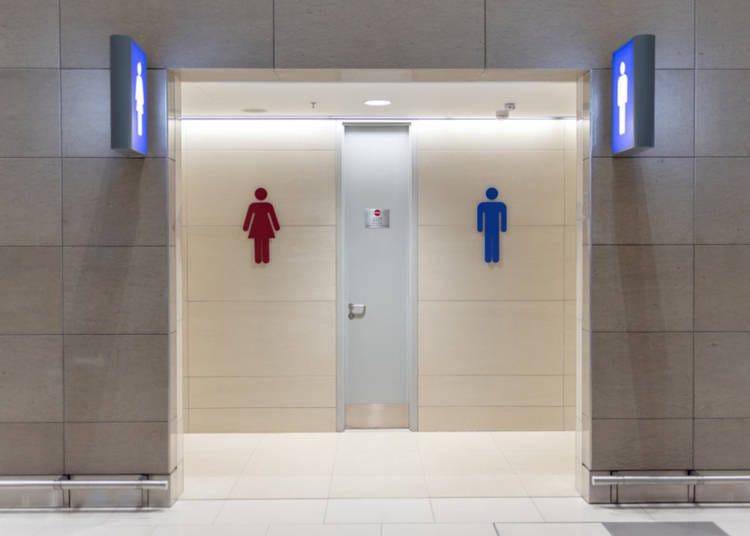 화장실이 넓다! 깨끗하다! 여기가 정말 백화점이야?