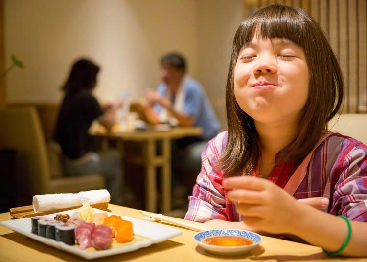 5. Japanese really do eat sushi!