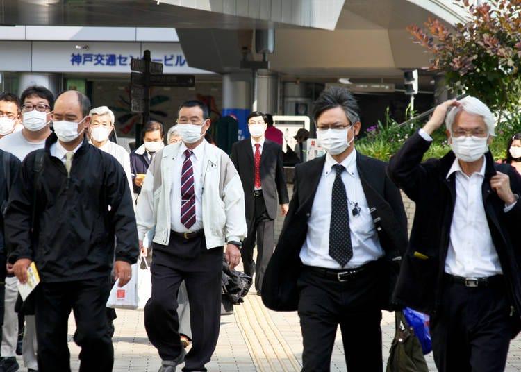 6. People wear face masks in public