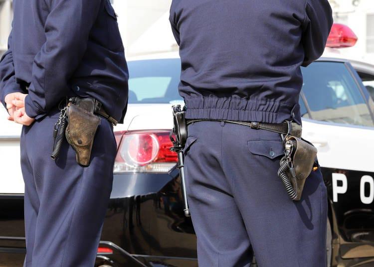 21. Japanese police DO carry guns