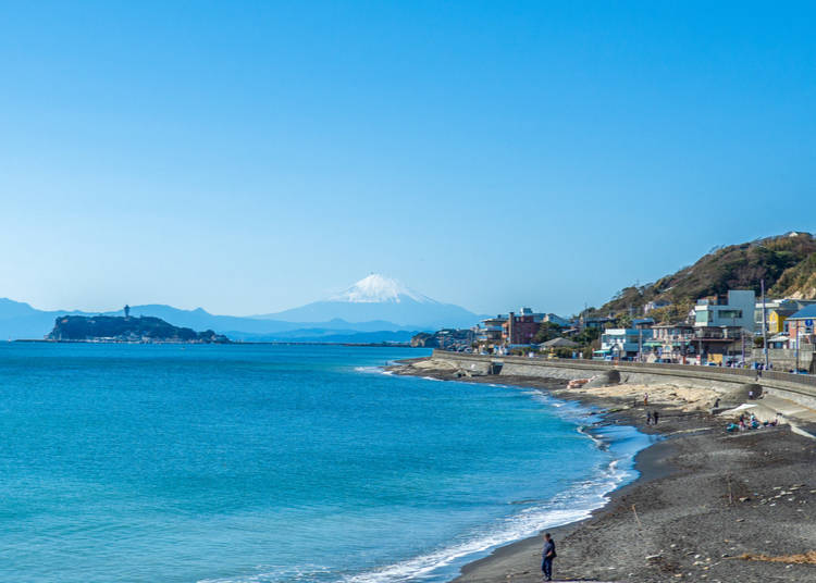 3:30 pm: Walk Back to Kamakura Station Along the Shonan Shoreline (Or Train it!)