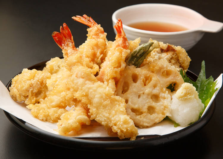 6. Tempura: For those who want an exotic dish, but a familiar flavor