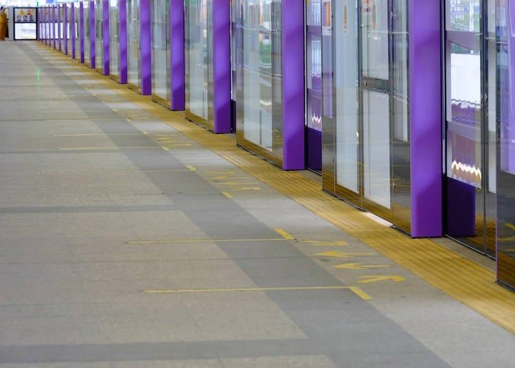 1. Too few platform doors at the station