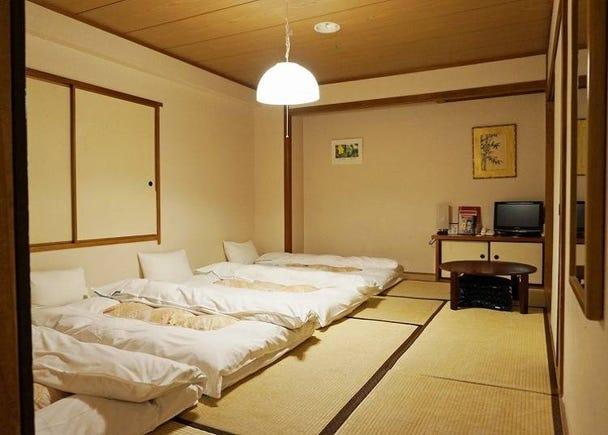 ドミトリーから和室まで 多彩なニーズに応える客室