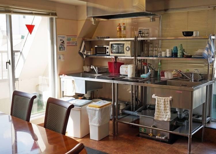 久住也不擔心!附有共用廚房與投幣式洗衣機