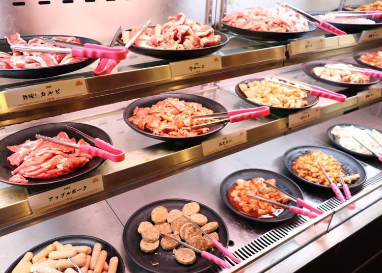 提供10種肉類!滿足胃袋的燒肉吃到飽午餐