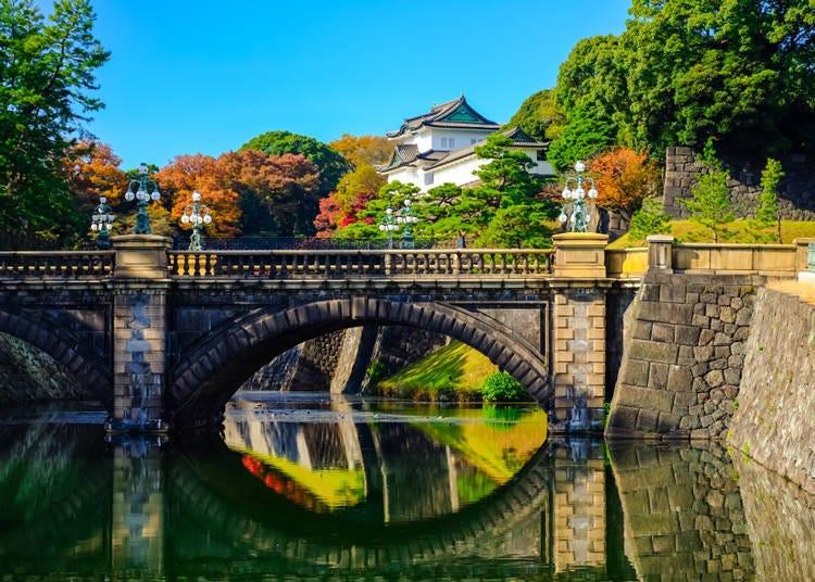 도쿄역 주변 에도성의 흔적이 느껴지는 일본의 심볼 '교쿄'
