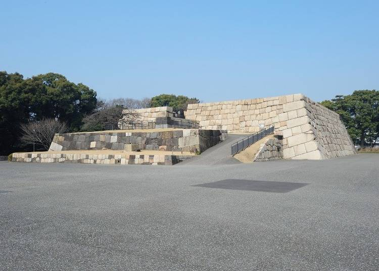 The ruins of the Donjon of Edo Castle, where you can see Japan's largest donjon