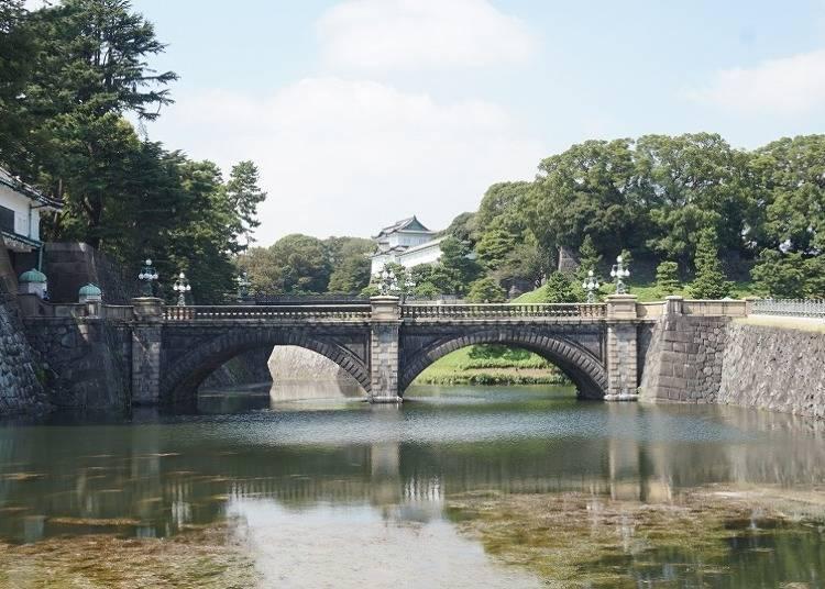 【皇居外苑必看景点】架于护城河上的「二重桥」