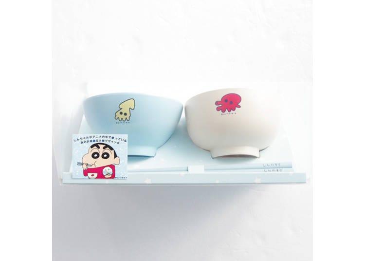 3.蜡笔小新 我的餐具组(クレヨンしんちゃん オラの食器セット)(含税3080日元)