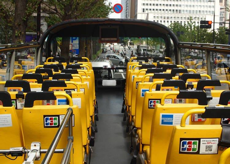 さあ、乗車して東京の観光スポットを巡ってみよう!