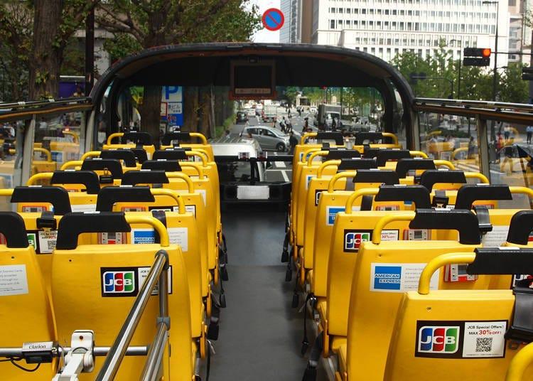 接下來搭上東京雙層巴士「SKY BUS」,巡遊東京各大觀光景點吧!
