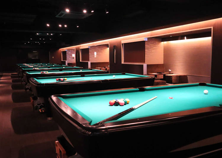 Bagus Ginza: Too early for bed - Play some billiards or darts instead!