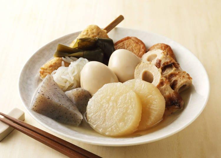 關東煮點餐日文①常見定番食材