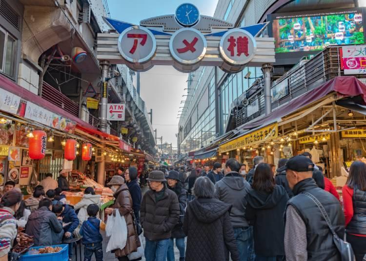 도쿄의 시타마치(下町/변두리) 정서가 남아 있는 지역 '우에노(上野)·오카치마치(御徒町)·아메요코(アメ横)'
