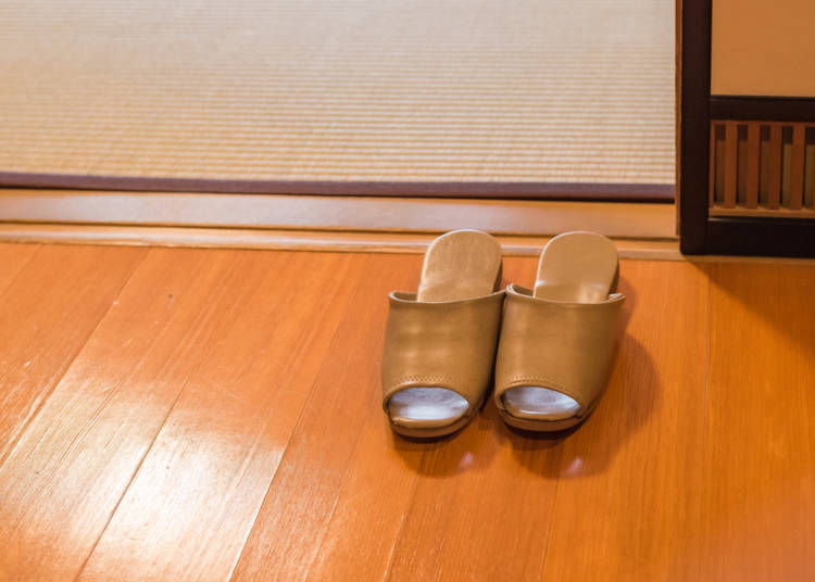 3. No slippers on tatami