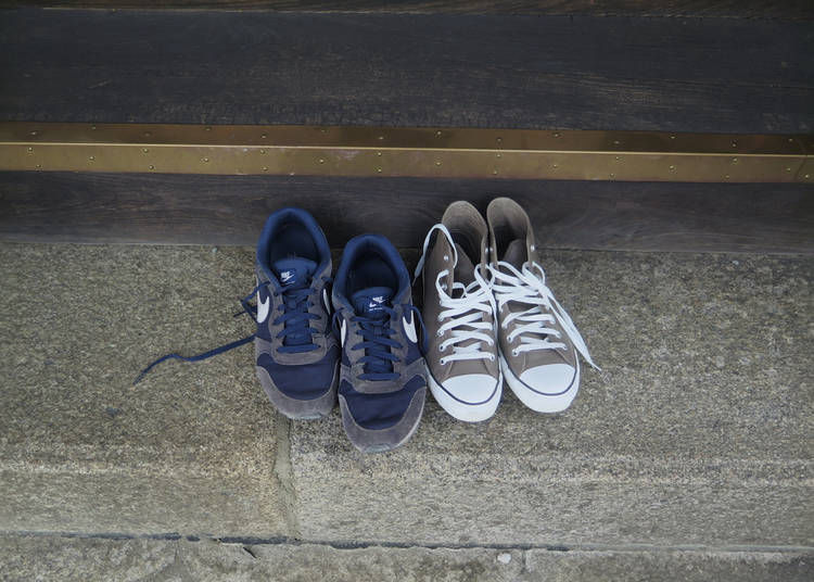 4. Shoes facing the right way