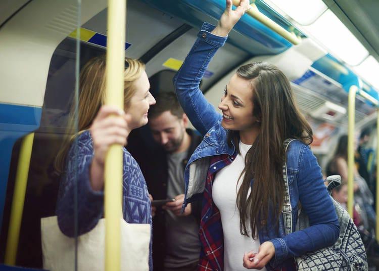 8. Talking too loud on trains