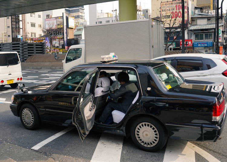 16. Trying to open a taxi door manually