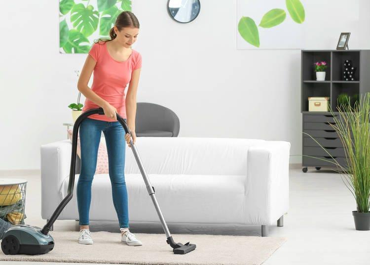 24. Doing laundry or vacuuming at night