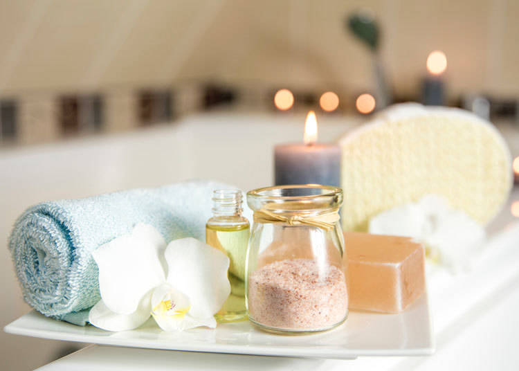 Do your own onsen beauty treatment at home with souvenirs from the hot spring!