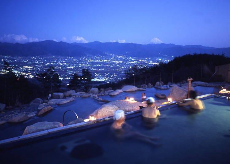 日本一の絶景温泉「ほったらかし温泉」【ゆるキャン△】