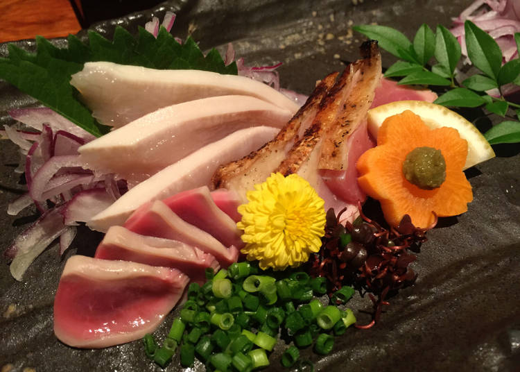 4. Raw Chicken - Torisashi