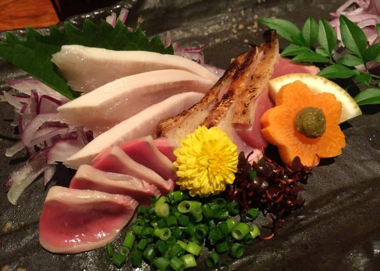4. Raw Chicken - Torisashi