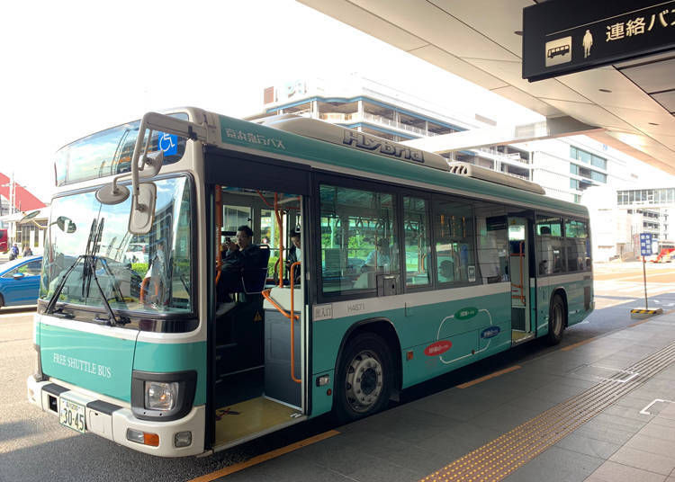 Combining trains and low-cost buses is recommended