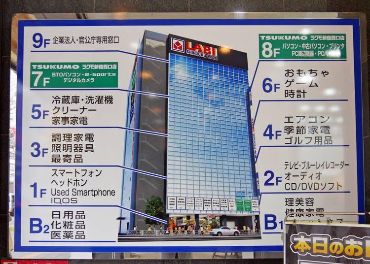 新宿西口電器店3.寬敞店面任你逛整天「YAMADA電機 LABI新宿西口館」