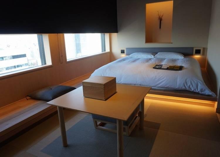 充满沉静感的日式旅馆风格客房
