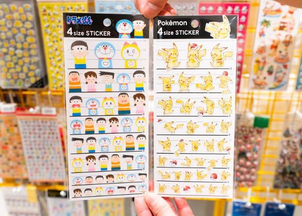 9. 4 Size Sticker Doraemon Friends / Pikachu (200 yen, tax not included)