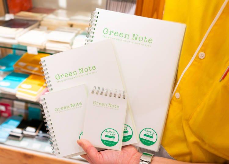 新宿Loft店長推薦商品No.1減輕光反射的護眼筆記本:雙線圈筆記本Green Note