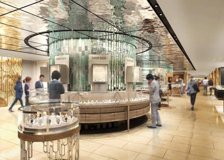 新宿伊勢丹本館5樓:不必顧忌太多也能輕鬆前往的鐘錶樓層