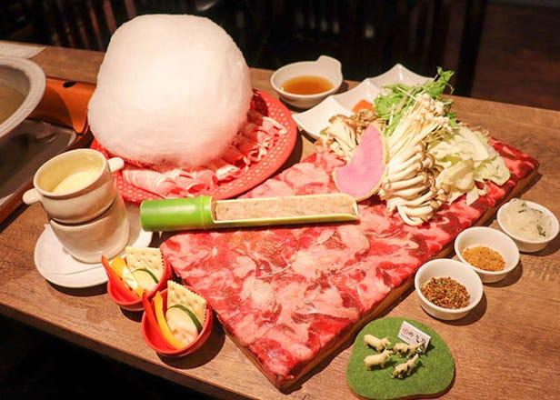 「しゃぶしゃぶ 焼肉食べ放題 めり乃 新宿店」でくせのないラム肉&牛タンのぷりぷり感を堪能!