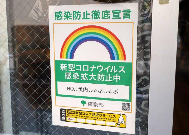 「No.1烤肉・涮涮锅吃到饱 新宿店」的防疫措施