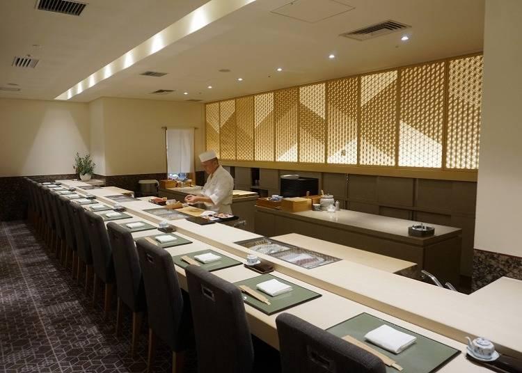[5000엔]고급 호텔에서 최고급 초밥을 경험하다, 초밥집 '미야코'