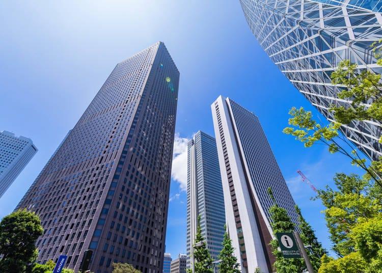 4. 빌딩들이 늘어선 신주쿠역 서쪽 출구 주변