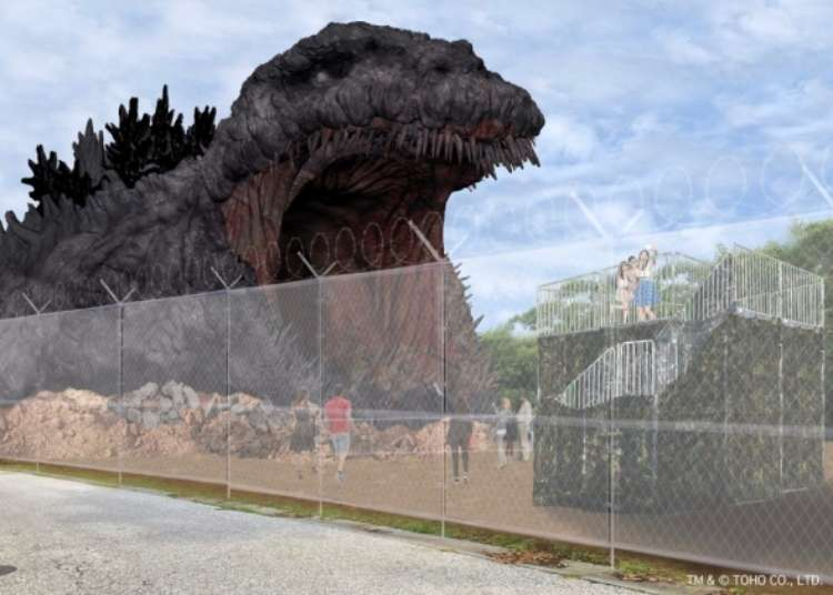 Massive 120-meter Godzilla statue being built as part of Japanese theme park's newest attraction - LIVE JAPAN