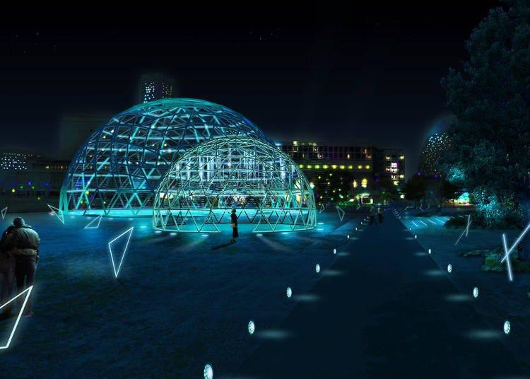 4. YOKOHAMA CROSS NIGHT ILLUMINATION: Where beautiful light fills the city