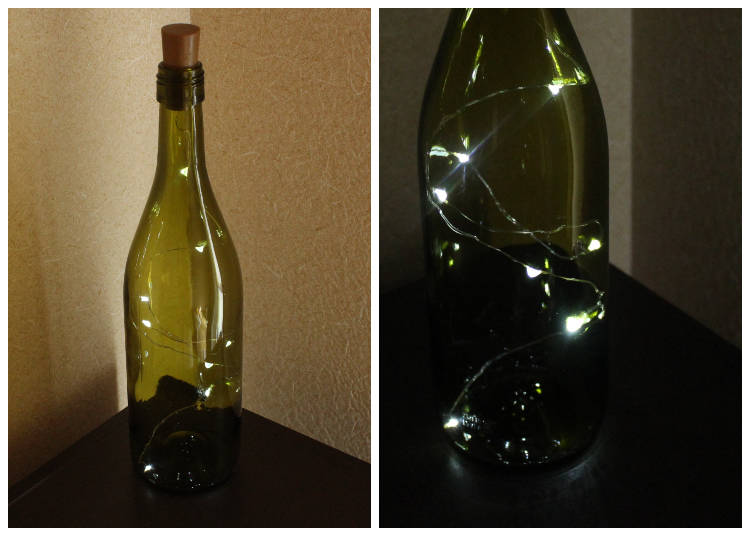 2. Whimsical Wire Light (in a Bottle): photogenic perfection for your coziest nook.