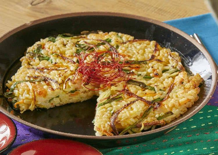 2. Korean-Inspired Fusion: Buchimgae + Rice
