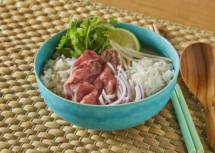3. Vietnamese-Inspired Fusion: Pho + Rice